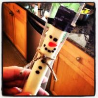 DIY: String Cheese Snowman