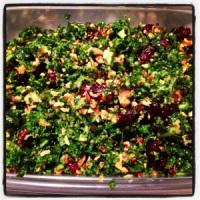 Crunchy Kale Salad {Gluten Free, Vegan}