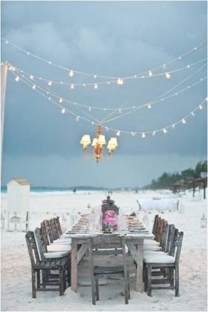 beach dinner