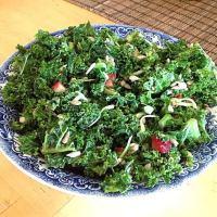 Strawberry Kale Salad {Raw, Gluten Free}