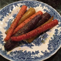 Roasted Rainbow Carrots {Gluten Free}