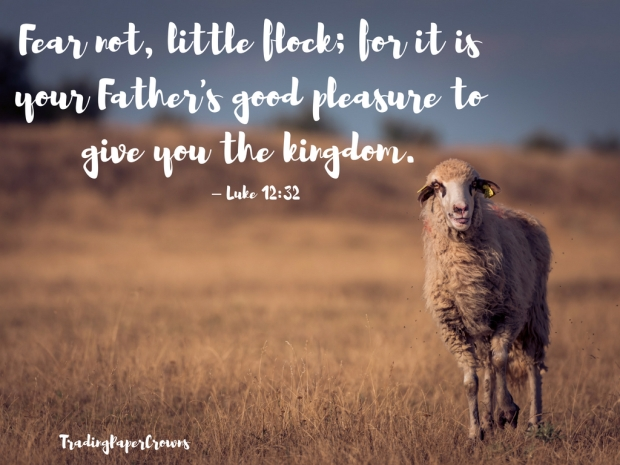 Fear not, little flock; for it is your Father's good pleasure to give you the kingdom. – Luke 12_32.jpg